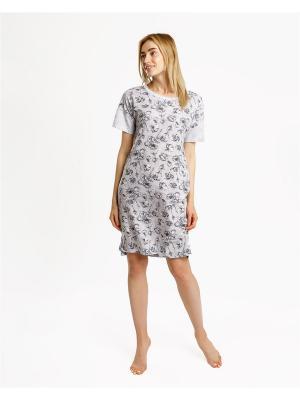 Ночная сорочка Mark Formelle. Цвет: светло-серый, белый