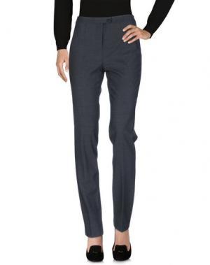 Повседневные брюки L.P. di L. PUCCI. Цвет: стальной серый