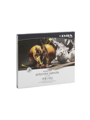 Rembrandt polycolor художественные цветные карандаши, 24 цв в метал коробке. Lyra. Цвет: белый, желтый, черный