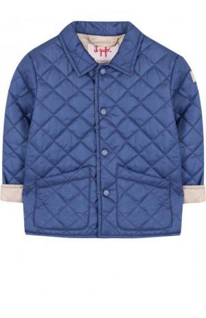 Стеганая куртка Il Gufo. Цвет: голубой
