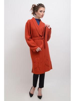 Пальто Дания LINO RUSSO. Цвет: терракотовый