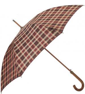 Зонт-трость с куполом в клетку Zest. Цвет: коричневый