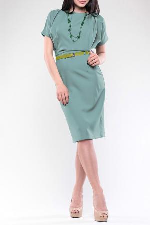 Платье REBECCA TATTI. Цвет: оливковый