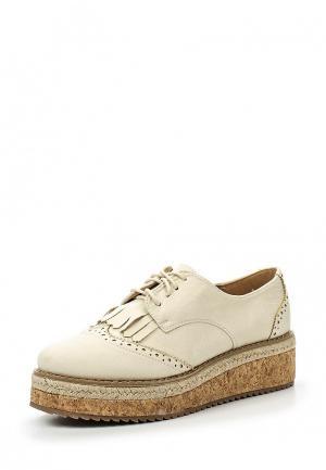 Ботинки WS Shoes. Цвет: бежевый