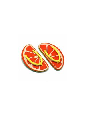 Сланцы Orange Kawaii Factory. Цвет: оранжевый