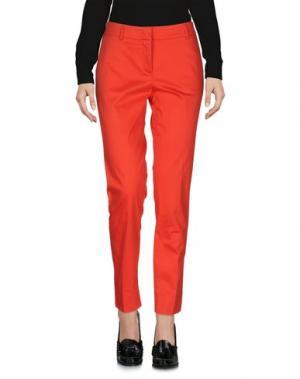 Повседневные брюки PESERICO SIGN. Цвет: красный