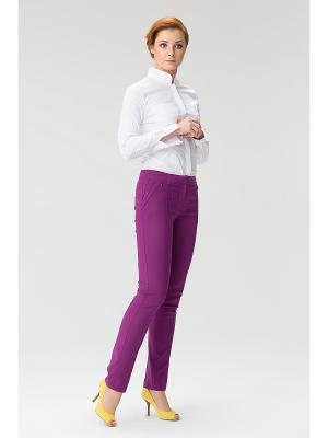 Женские брюки с передними карманами на молнии INDIGIRA. Цвет: фиолетовый