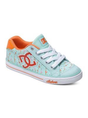 Кеды CHELSEA GRAFFIK DC Shoes. Цвет: голубой, оранжевый, розовый