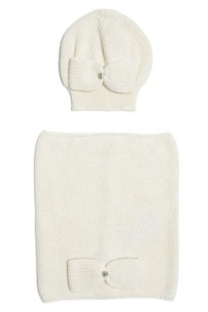 Комплект (шапка и снуд) 153130 Sos Chic. Цвет: белый