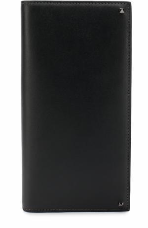 Кожаный бумажник с отделениями для кредитных карт и монет Valentino. Цвет: темно-серый