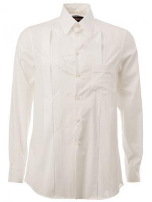 Плиссированная рубашка Uma Wang. Цвет: белый