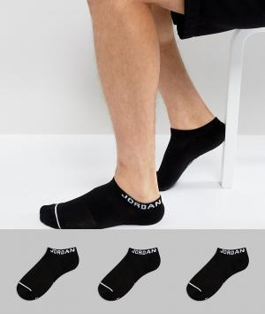 Jordan 3 пары черных спортивных носков Nike SX5546-010. Цвет: черный