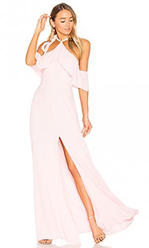 Макси платье bennette Privacy Please. Цвет: розовый