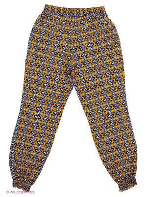 Брюки КАЛIНКА. Цвет: желтый, антрацитовый