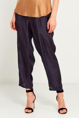 Свободные темно-синие брюки Mes Demoiselles. Цвет: синий
