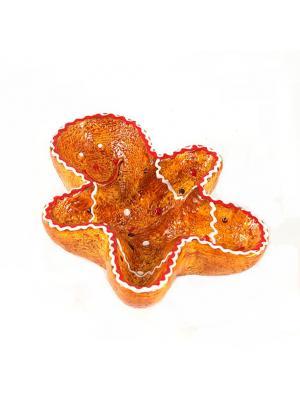 Блюдо декоративное Имбирный пряник Русские подарки. Цвет: оранжевый