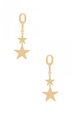Серьги starry eyed Ettika. Цвет: металлический золотой