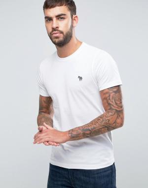 PS by Paul Smith Белая футболка слим с логотипом в виде зебры. Цвет: белый