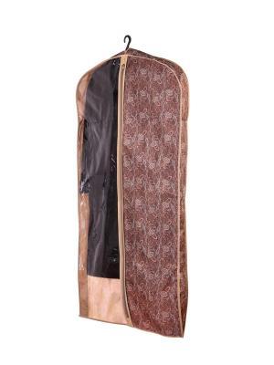 Чехол для шубы (для хранения) 60х160х10см  Русский шик 1229 COFRET. Цвет: коричневый