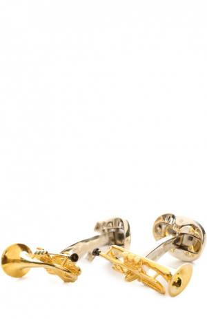 Запонки Deakin&Francis. Цвет: золотой