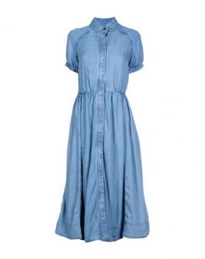 Платье длиной 3/4 PAUL & JOE SISTER. Цвет: синий