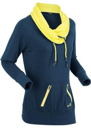 Анорак с длинными рукавами (темно-синий меланж) bonprix. Цвет: темно-синий меланж