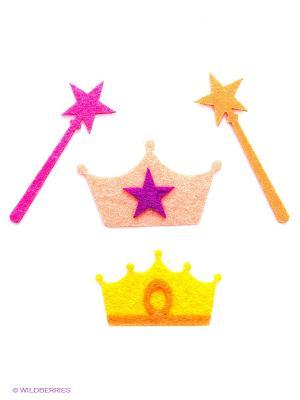 Термостикер (набор) Prince and Princess Kawaii Factory. Цвет: оранжевый, желтый