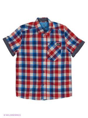 Рубашка Young Reporter. Цвет: темно-синий, серый, темно-красный