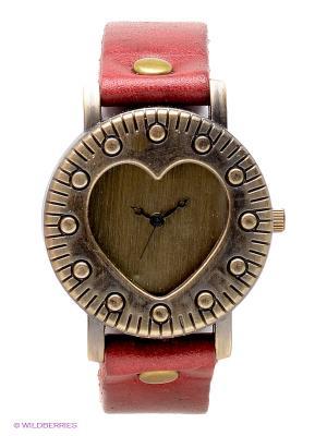 Часы Kawaii Factory. Цвет: бордовый, бронзовый