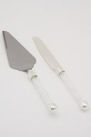 Набор для торта лопатка и нож Marquis. Цвет: серебристый