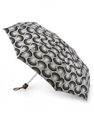 Зонт механический Серый цветок  by Fulton Orla Kiely. Цвет: серый