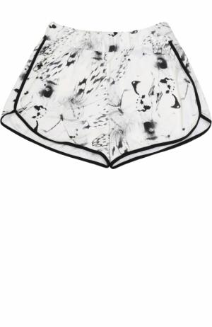 Хлопковые мини-шорты с принтом Sanetta. Цвет: кремовый