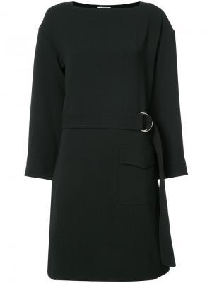 Платье с поясом Nomia. Цвет: чёрный