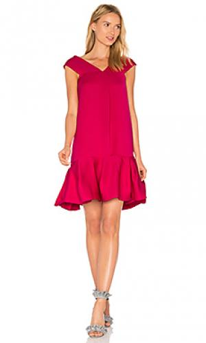 Платье mary Paper London. Цвет: розовый