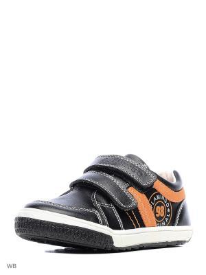 Ботинки Flamingo. Цвет: черный, оранжевый