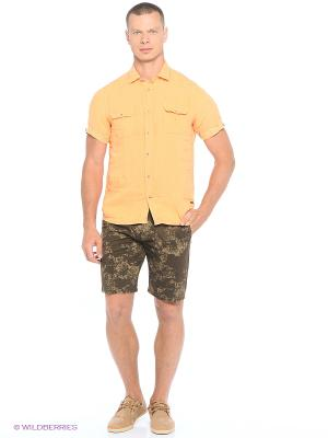 Рубашка Delahaye. Цвет: оранжевый