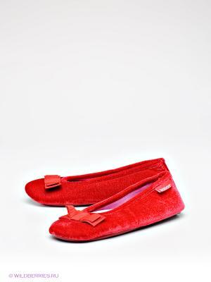 Тапочки Isotoner. Цвет: малиновый, красный