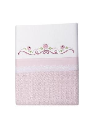 Комплект постельного белья Прованс Сонный гномик. Цвет: розовый