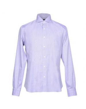 Pубашка DANDYLIFE by BARBA. Цвет: светло-фиолетовый