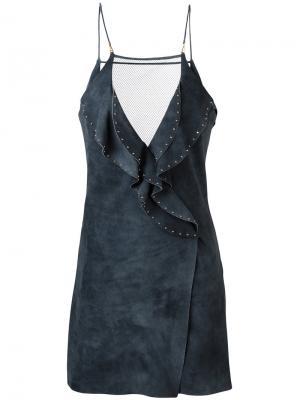 Платье с оборками Jitrois. Цвет: синий
