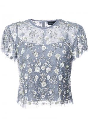 Sequin appliqué blouse Needle & Thread. Цвет: синий