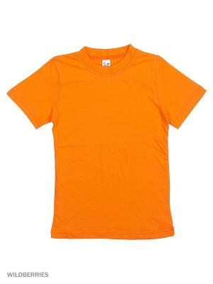 Футболка K&R BABY. Цвет: оранжевый
