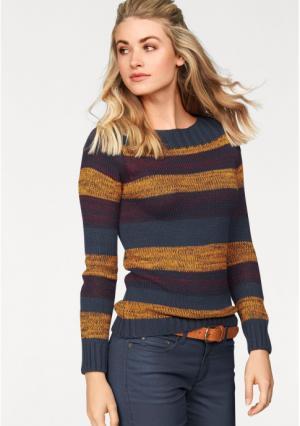Пуловер AJC. Цвет: темно-синий/горчичный