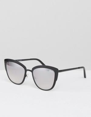 Quay Australia Солнцезащитные очки кошачий глаз Super Girl. Цвет: черный