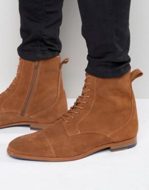 Zign Замшевые ботинки на шнуровке. Цвет: рыжий