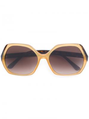 Солнцезащитные очки с квадратной оправой Giorgio Armani. Цвет: жёлтый и оранжевый