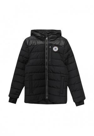 Куртка утепленная Converse. Цвет: черный