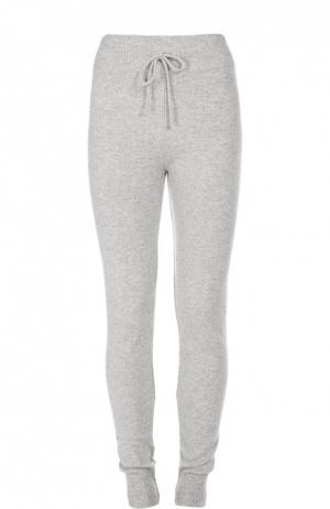 Кашемировые брюки с эластичным поясом и манжетами Back Label. Цвет: серый