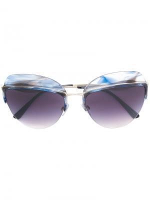 Солнцезащитные очки в овальной оправе Giorgio Armani. Цвет: розовый и фиолетовый
