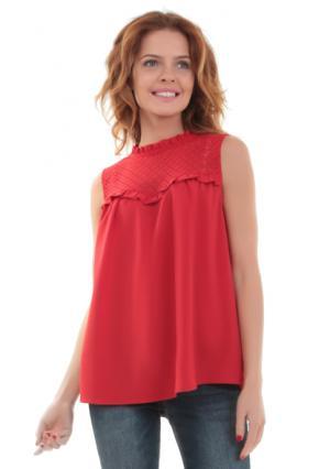 Блузка MY STYLE. Цвет: красный